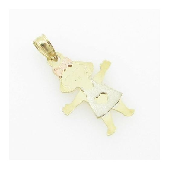 womens bp103 14K yellow gold twin boys girls charm