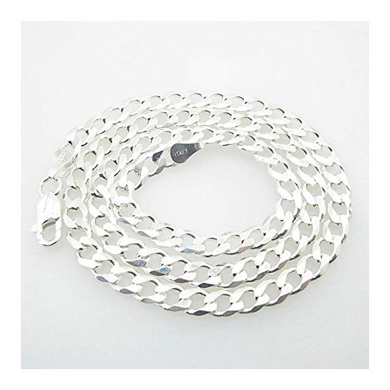 Silver Curb Link Chain Necklace Bdc82