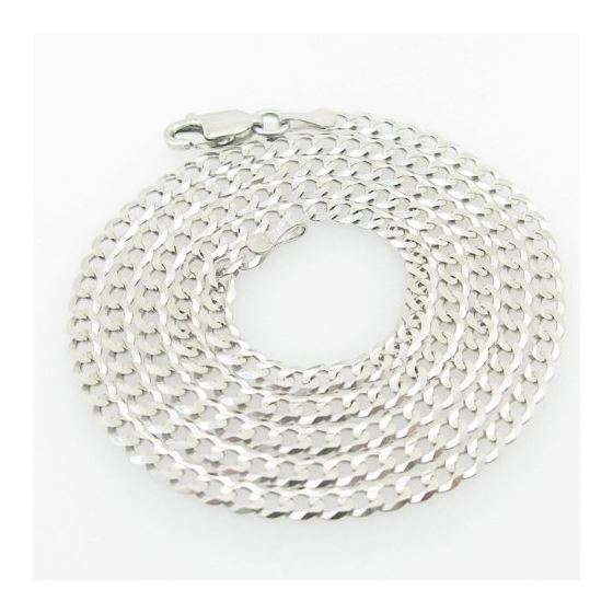 Mens White-Gold Cuban Link Chain Length - 20 inche