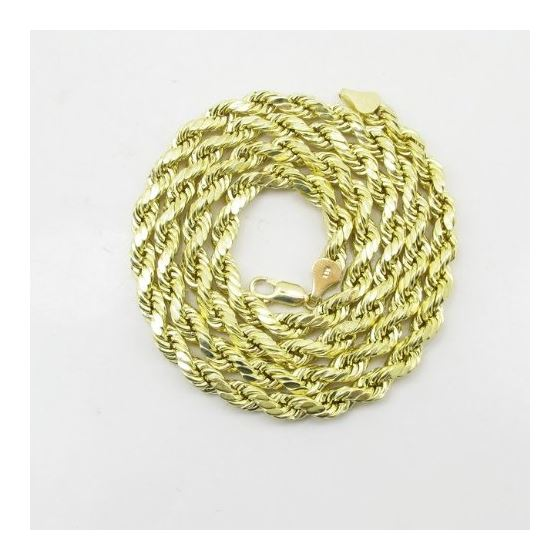 Mens 10K Yellow Gold Hollow Rope Chain Elnc20 24-3