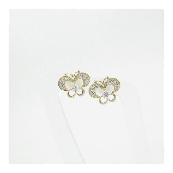 14K Gold Earrings Heart Star Flower Dolphin Peng-3