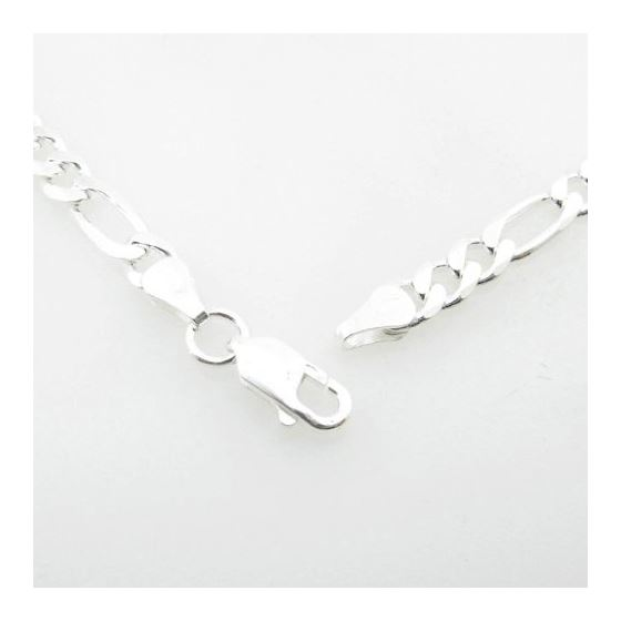 Silver Figaro link chain Necklace BDC92