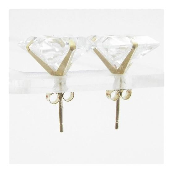 Unisex 14K solid gold earrings fancy stu 81324 2