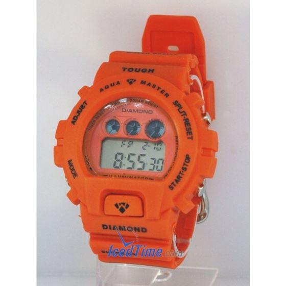 Aqua Master Shock Digital Watch Orange 27745 1