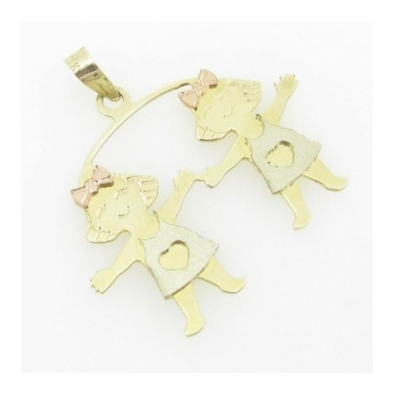 Womens Bp108 14K Yellow Gold Twin Boys Girls Cha-2