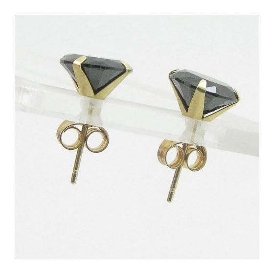 Unisex 14K solid gold earrings fancy stu 82043 2