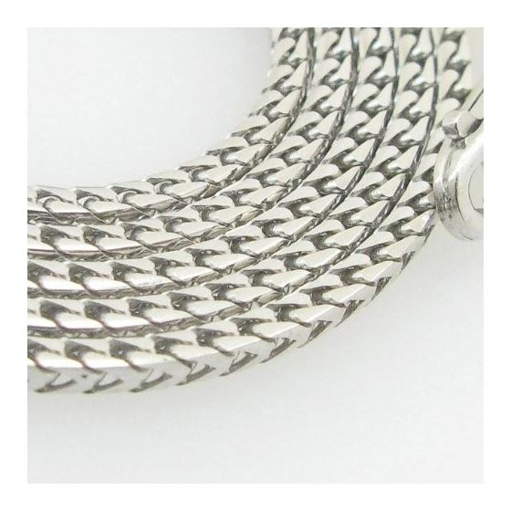 Mens White-Gold Franco Link Chain Length - 16 inch