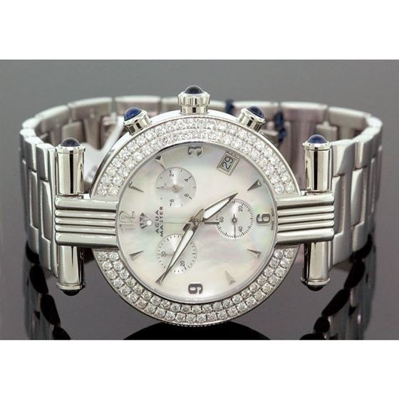 Ladies Aqua Master Diamond Watch 2.80 ct 28071 1