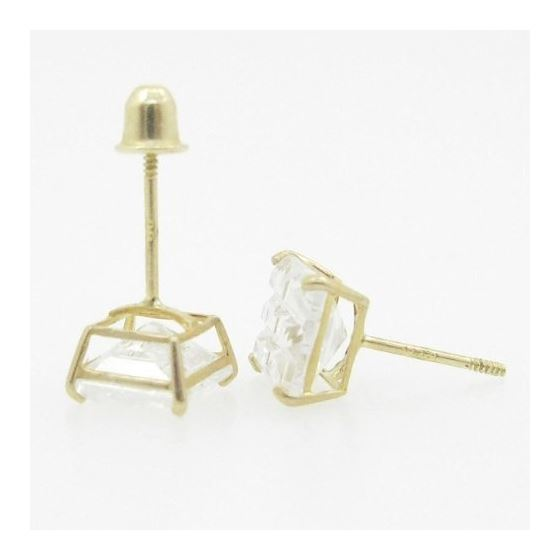 Unisex 14K solid gold earrings fancy stu 81550 4