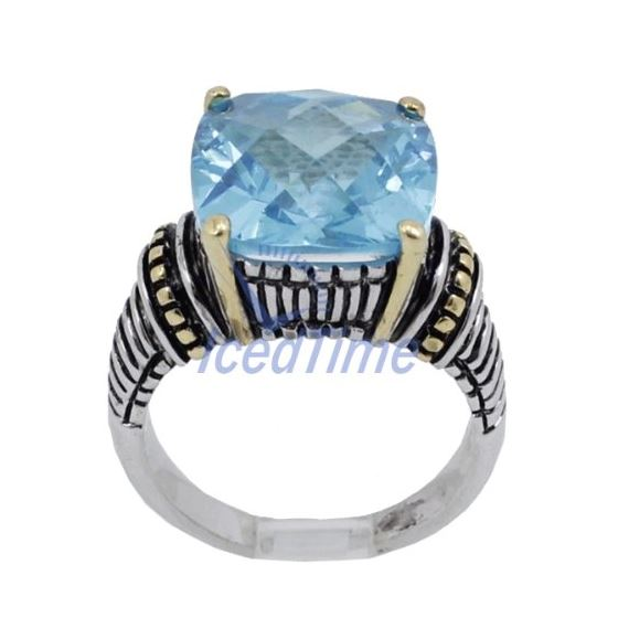 Ladies .925 Italian Sterling Silver Baby Blue Sy-2