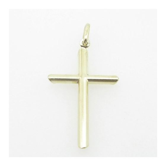 Mens 10K Solid Yellow Gold cross 2 Length - 1.38 i