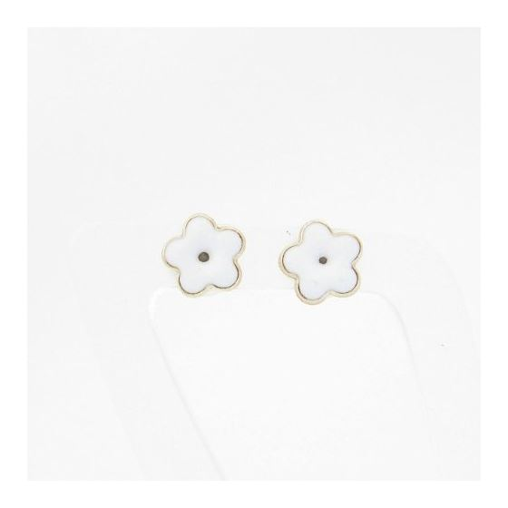 14K Gold Earrings heart star flower dolp 64045 3