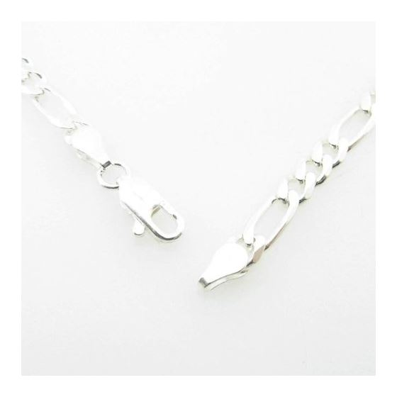 Silver Figaro link chain Necklace BDC89