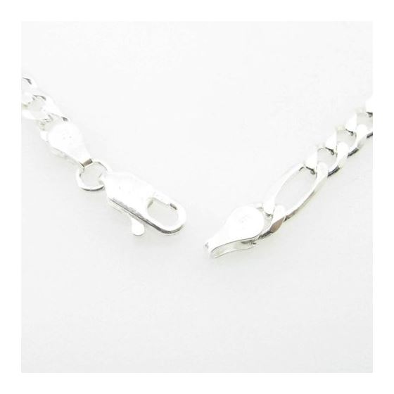 Silver Figaro link chain Necklace BDC97 79746 3