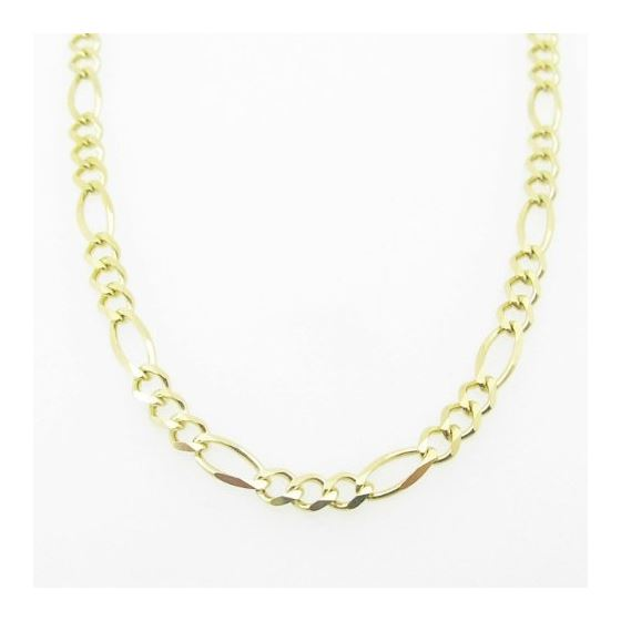 Mens Yellow-Gold Figaro Link Chain Lengt 79159 3