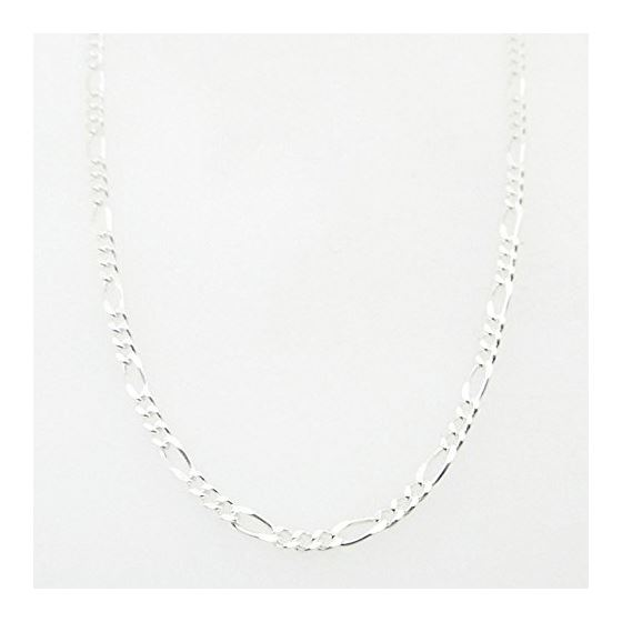 Silver Figaro link chain Necklace BDC74 79633 1