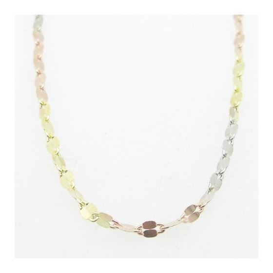 Ladies .925 Italian Sterling Silver Tri Color Twis