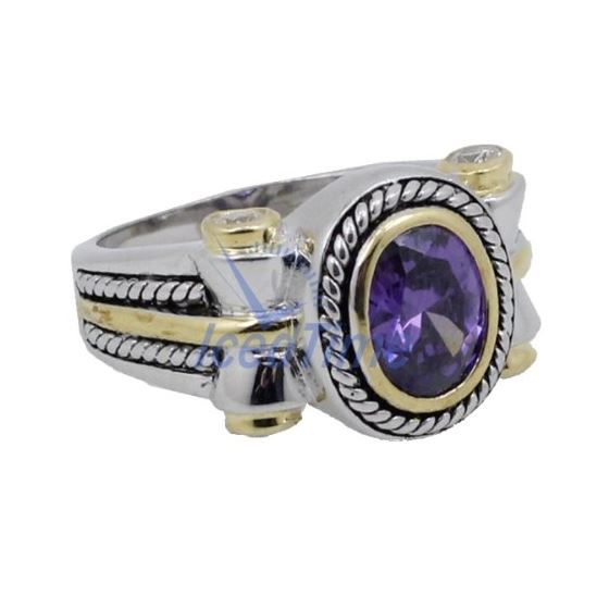 Ladies .925 Italian Sterling Silver Purp 73955 4
