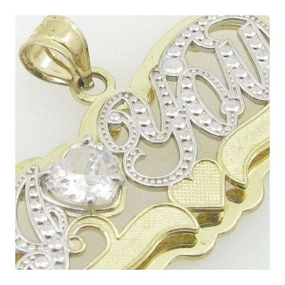 Ladies 10K Solid Yellow Gold I love you  87747 2