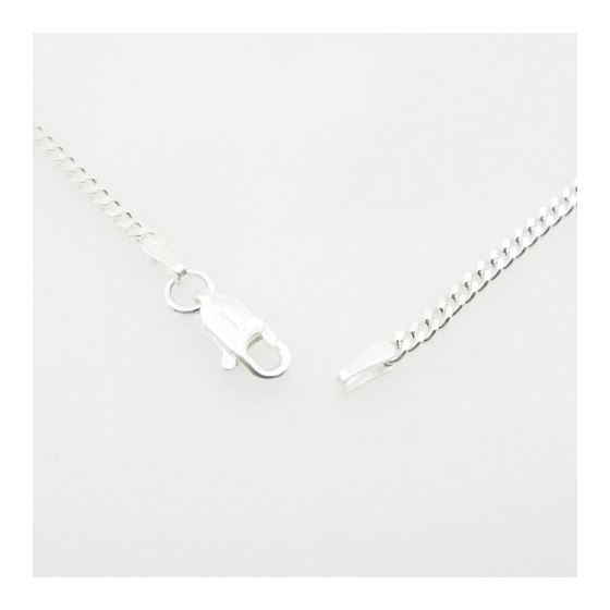 Silver Curb link chain Necklace BDC65 79524 3