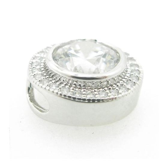 Ladies .925 Italian Sterling Silver round pendant