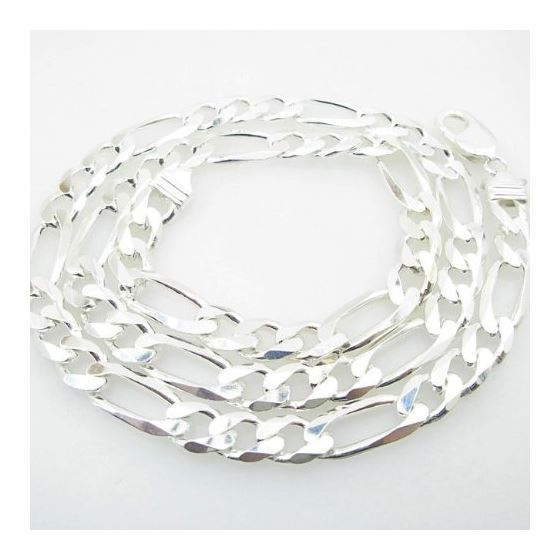 Silver Figaro link chain Necklace BDC76 79647 2