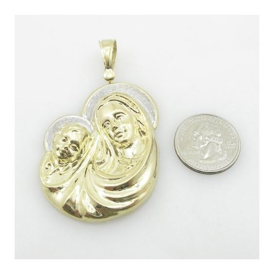 Unisex 10K Solid Yellow Gold virgin mary 81132 4