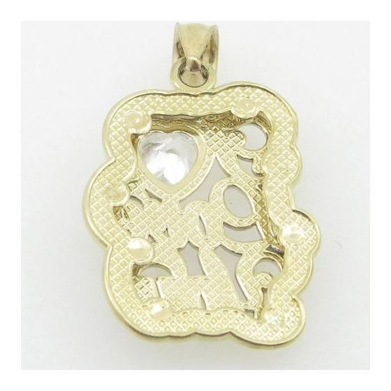 Ladies 10K Solid Yellow Gold I love you  87742 3