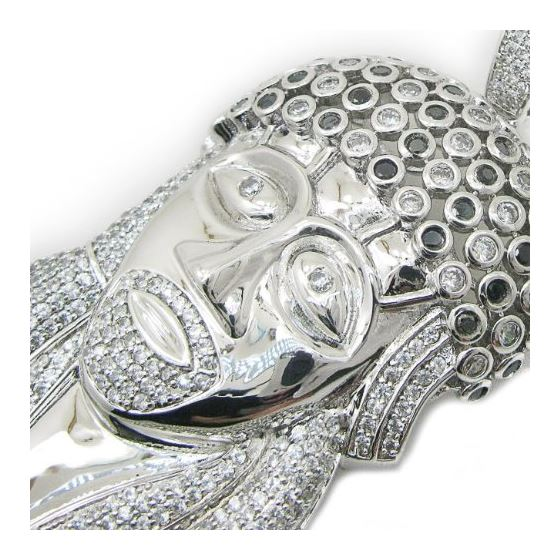 Mens .925 Italian Sterling Silver white  75767 4