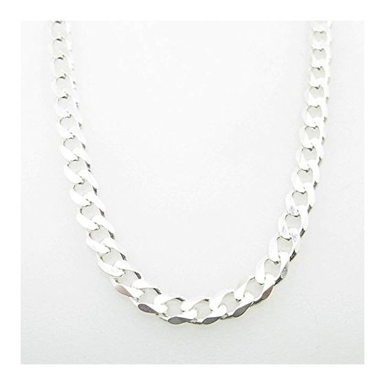 Silver Curb link chain Necklace BDC95
