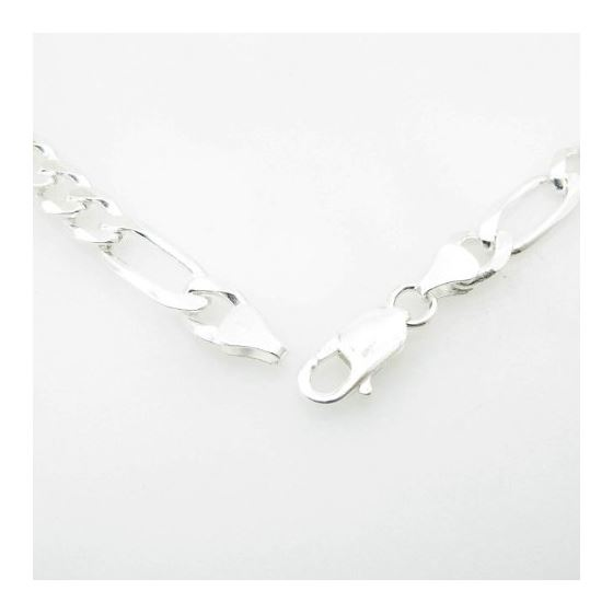Silver Figaro link chain Necklace BDC79