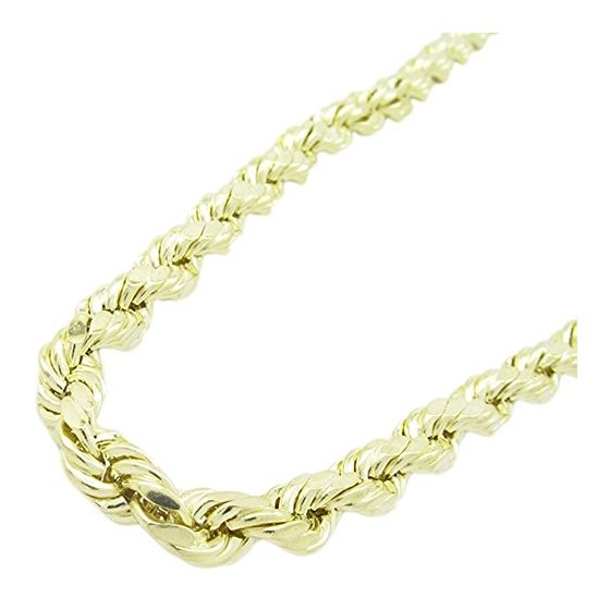 Mens 10K Yellow Gold Hollow Rope Chain Elnc20 24 A