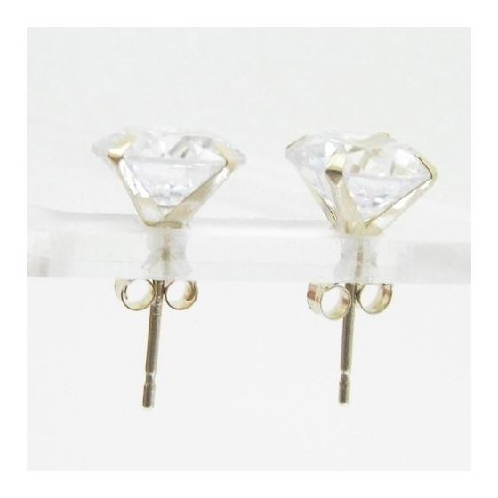 Unisex 14K solid gold earrings fancy stu 81772 2