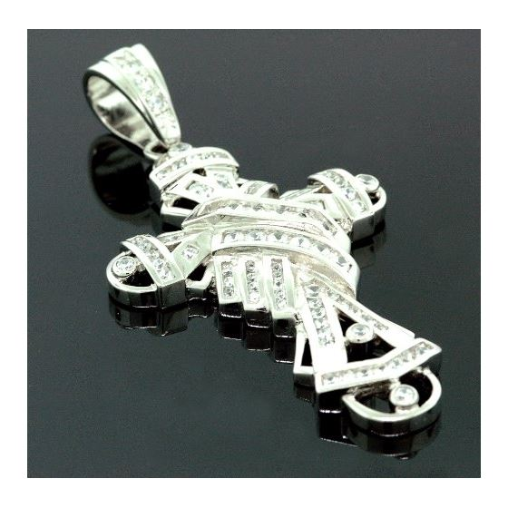.925 Sterling Silver Men Crystal Stone Multi Patte