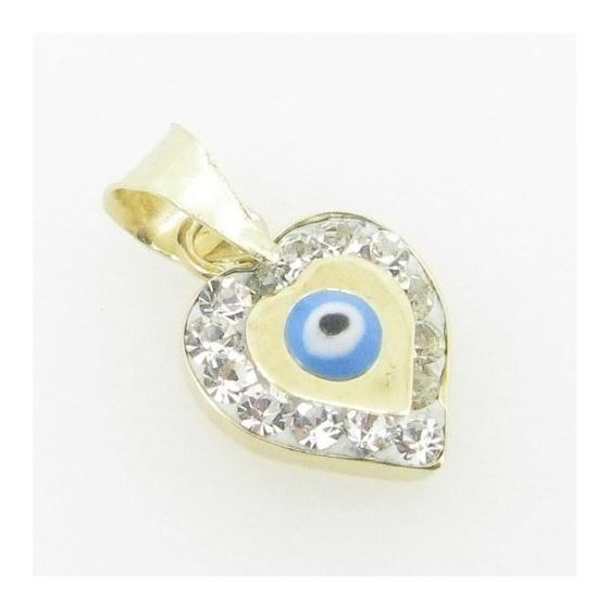 Womens BP115 Kabbalah Evil Eye 14K Solid Yellow-2