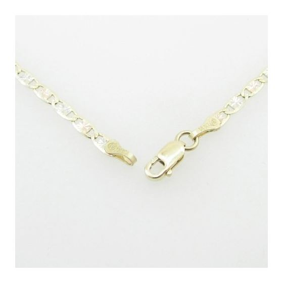 Mens Yellow-Gold Fancy Link Chain Length - 24 inch