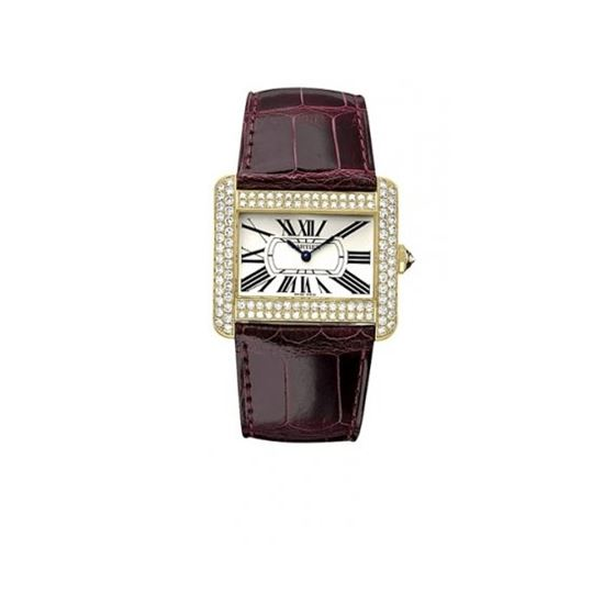 Cartier Tank Divan 18kt Yellow Gold Diamond Mens W