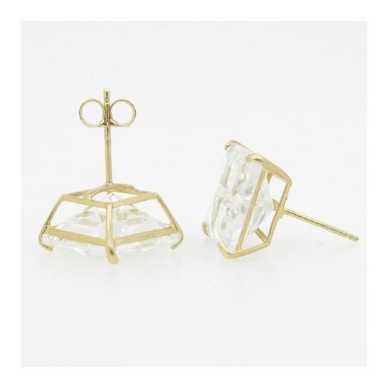 Unisex 14K solid gold earrings fancy stu 82353 4