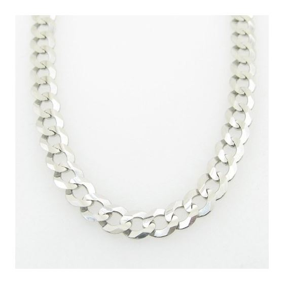 Mens White-Gold Cuban Link Chain Length  79009 3