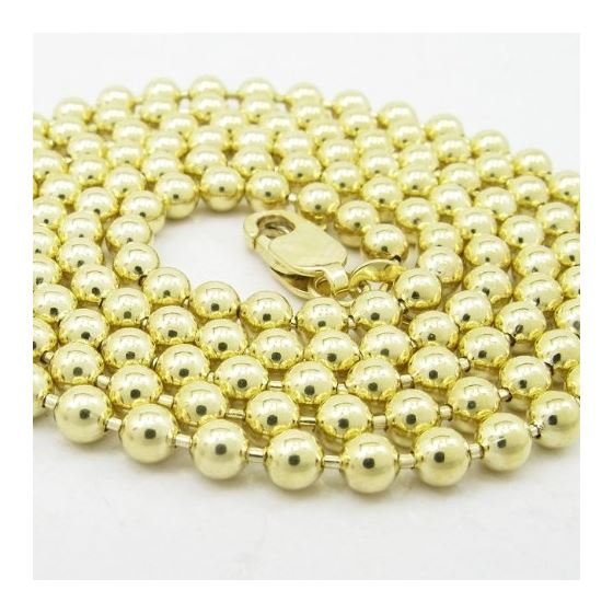 Mens 10K Yellow Gold Combat Ball Link Chain Elnc-2