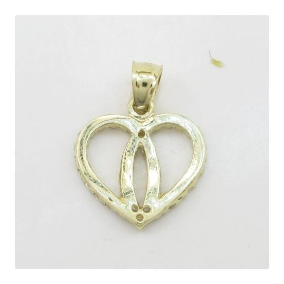 Womens 10k Yellow gold Dual heart join c 83560 4