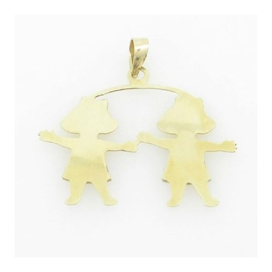 Womens Bp108 14K Yellow Gold Twin Boys Girls Cha-4