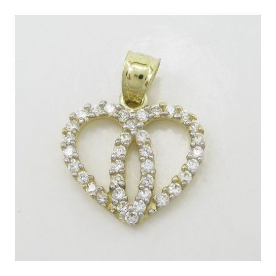 Womens 10k Yellow gold Dual heart join c 83559 3