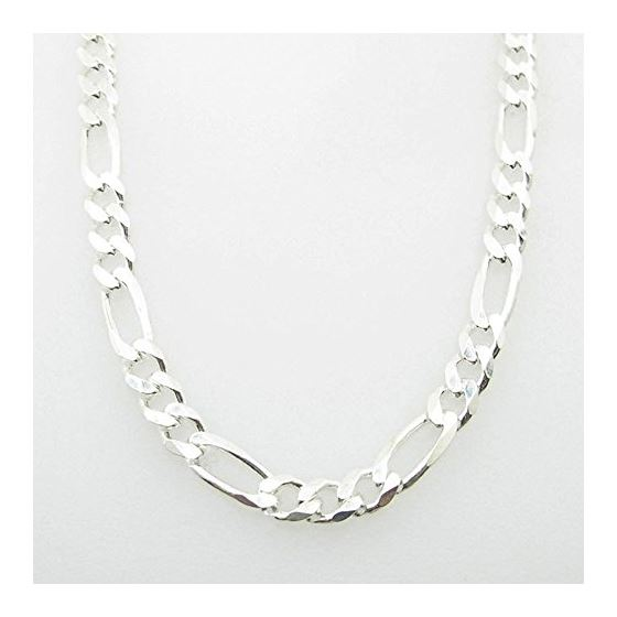 Silver Figaro link chain Necklace BDC97