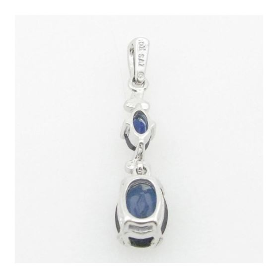 Ladies 10K Solid White Gold tear drop bl 74866 4