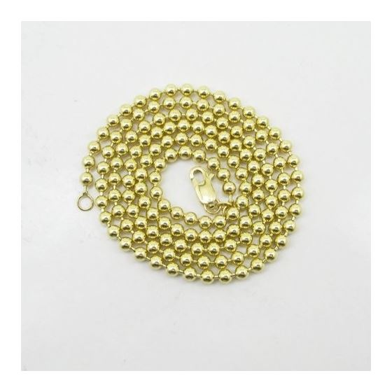 Mens 10K Yellow Gold Combat Ball Link Chain Elnc-3