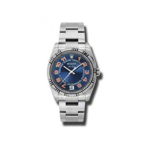 Rolex Watches  AirKing White Gold Fluted Bezel 114