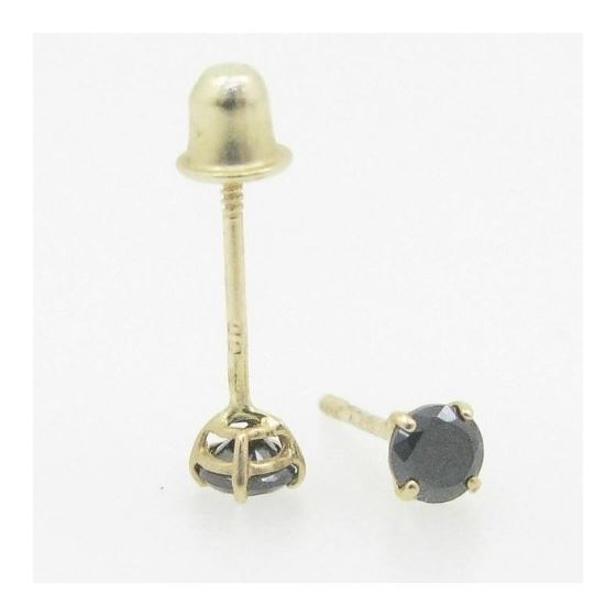 Unisex 14K solid gold earrings fancy stu 82324 3