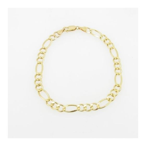Mens 10k Yellow Gold figaro cuban mariner link bra