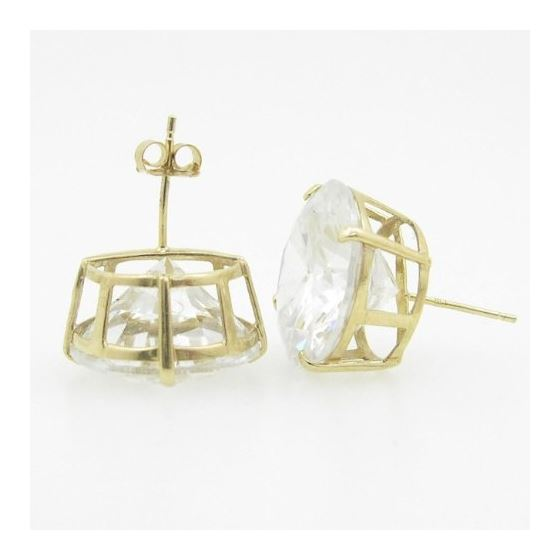 Unisex 14K solid gold earrings fancy stu 81186 4